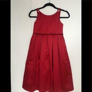 Girl's Biscotti Satin Dress w/ wrap